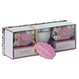 "Candle and soap gift set ""White Jasmine"""