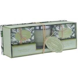 "Candle and soap gift set ""Verbena"""