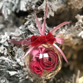 Christmas decoration with soap flower inside