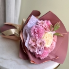 Luxurious bouquet of pink fragranced soap flowers