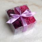 Bath roses, set of 9