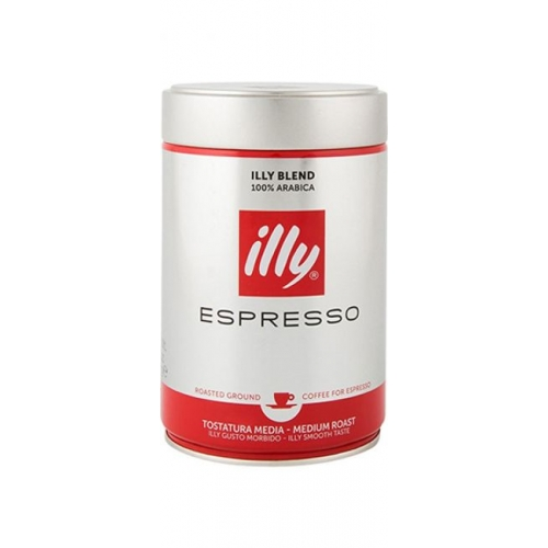 Illy ground coffee in can 500g