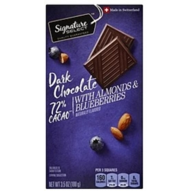 Signature Select Dark Chocolate with Almonds and Blueberries 100g