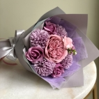 Luxurious bouquet of fragranced soap flowers