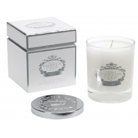 "Fragranced candle  ""White and silver"""