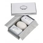 "Soap gift set ""White and silver"""